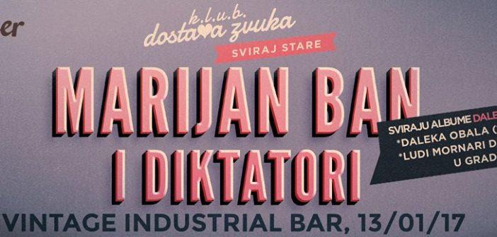 Sviraj stare: Marijan Ban & Diktatori sutra sviraju u Vintageu
