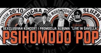 'Sexclusivnim' koncertom Psihomodo Pop promovira novi album 'Live in Gavella'