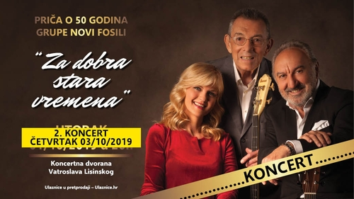 Novi Fosili dvostrukim koncertom u Lisinskom slave 50 godina