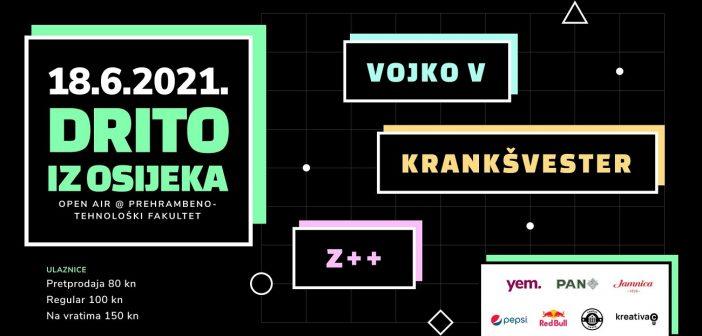 Premijerni Drito iz Osijeka – nastupaju Vojko V, Krankšvester i Z++