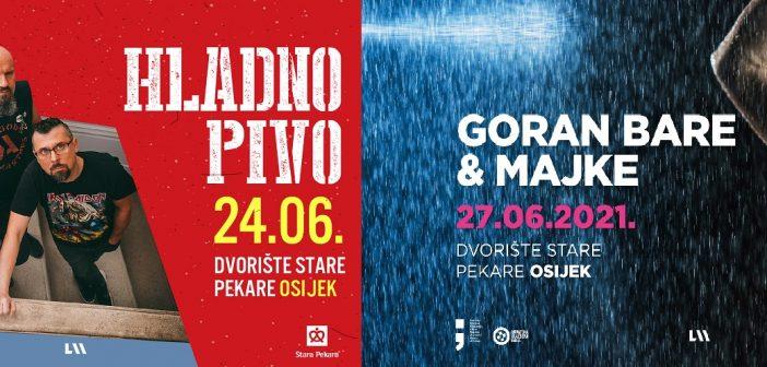 Jer svirati se mora: Hladno Pivo u Osijeku 24.6., Goran Bare & Majke 27.6.